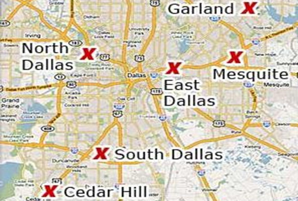 Six convenient locations in the Dallas area