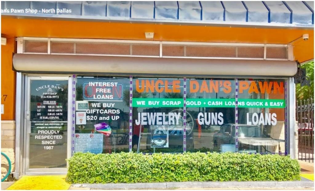 Uncle Dan's Pawn - North Dallas storefront