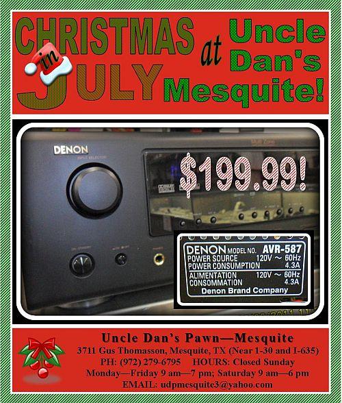 Xm Radio Christmas.Uncle Dan S Pawn Mesquite Christmas In July Savings