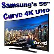 "picture of a Samsung 55"" Curve 4K UHD Smart TV"