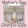 photo of colorful earrings with pink gemstones