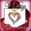 Valentine's Ruby & Diamond Heart Giveaway! Enter to Win It!