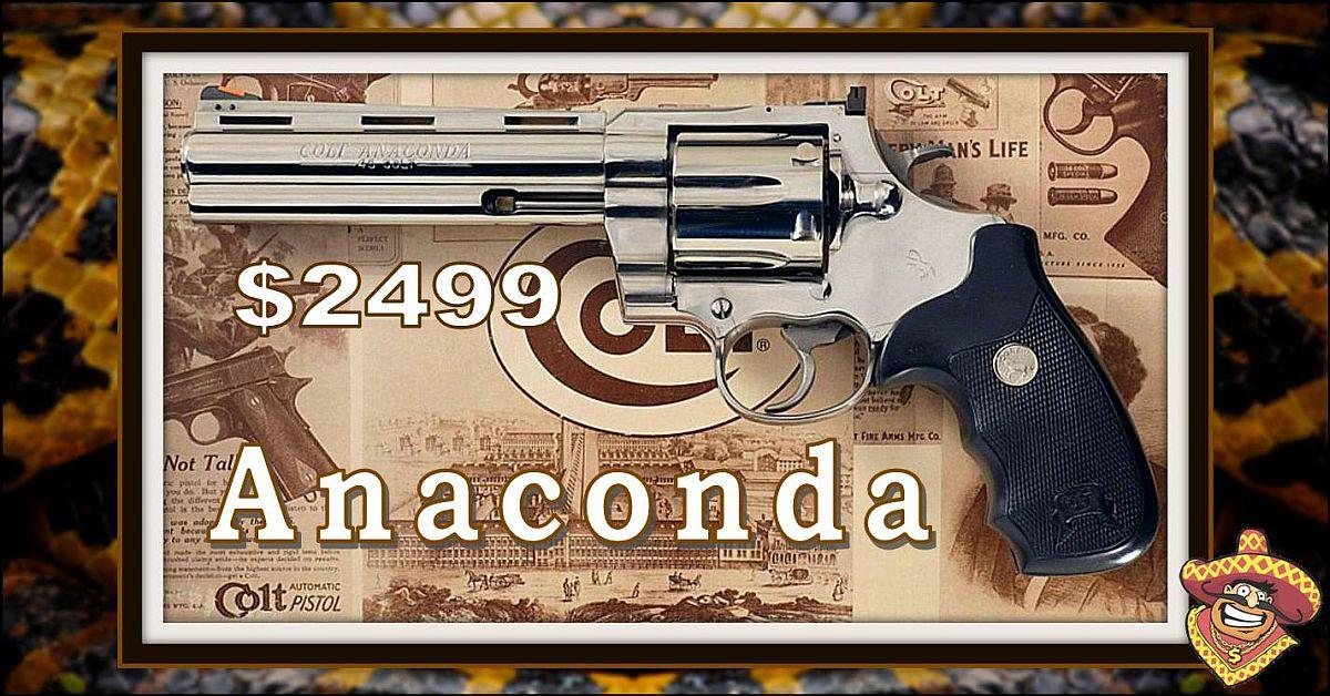 Colt Anaconda - Mint Condition with Custom Walnut Grips! $2499 ...