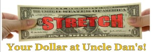 Stretch your dollar at Uncle Dan's Back to School Sale!
