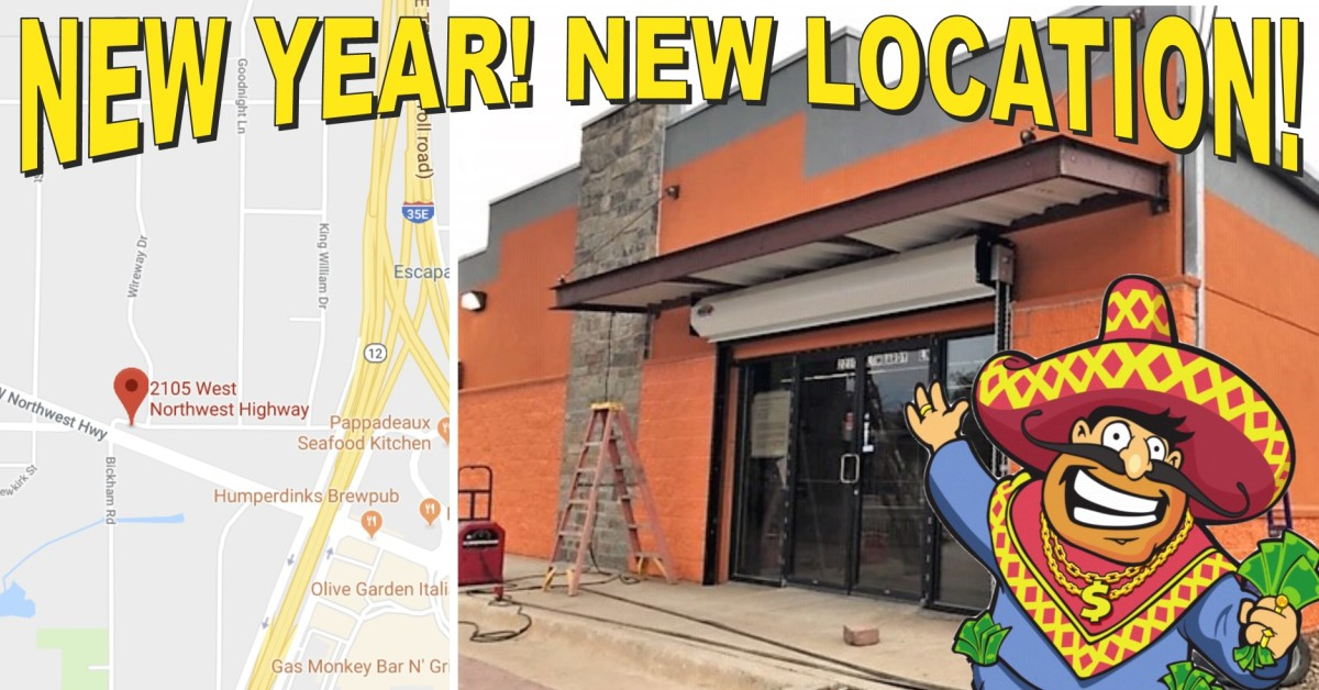 New Year! New Store Opening Soon! Image of new building under construction